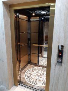 آیینه کاری آسانسور